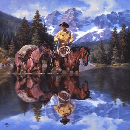Reflections Of The Rockies Fine Art Print By Jack Sorenson