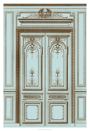 Framed French Salon Doors I Print