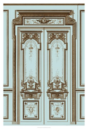 Framed French Salon Doors II Print