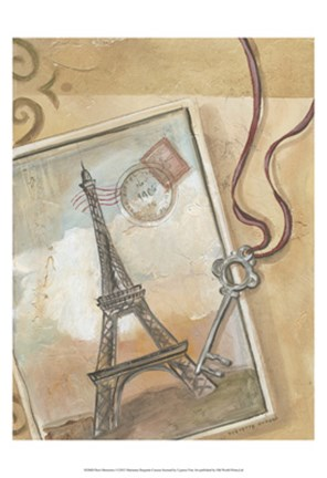 Framed Paris Memories I Print