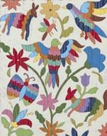Otomi Embroidery II  Fine Art Print