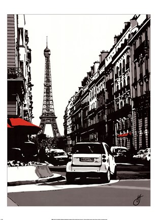 Framed Paris II - Black Print