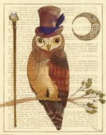 Steampunk Owl II Art