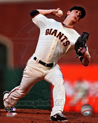 Framed Tim Lincecum Baseball Action Print