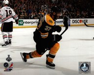 Patrice Bergeron Goal Celebration Game 3 of the 2013 Stanley Cup Finals  Fine Art Print