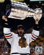 Brandon Saad with the Stanley Cup Game 6 of the 2013 Stanley Cup Finals  Fine Art Print
