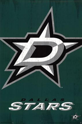 Framed Dallas Stars™ - Logo 13 Print