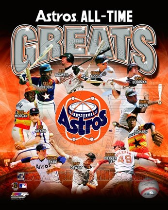 Framed Houston Astros All Time Greats Composite Print