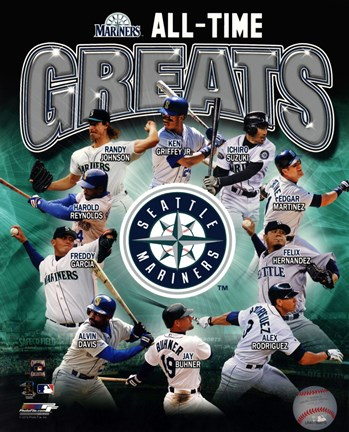 Framed Seattle Mariners All Time Greats Composite Print