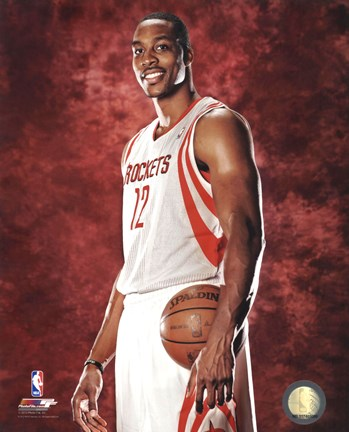 Framed Dwight Howard #12 of the Houston Rockets posed Print