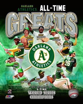 Framed Oakland Athletics All Time Greats Composite Print