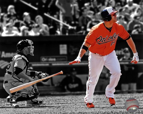 Framed Chris Davis 2013 Spotlight Action Print