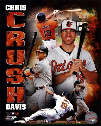 Framed Chris Davis 2013 Portrait Plus Print