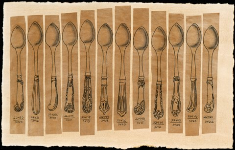 Framed Cutlery - Spoon Print