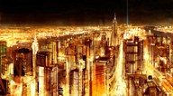 Manhattan Panoramic Nocturne  Fine Art Print