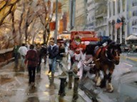 Horse and Carriage, New York City  Fine Art Print