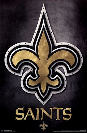 Framed New Orleans Saints - Logo 13 Print