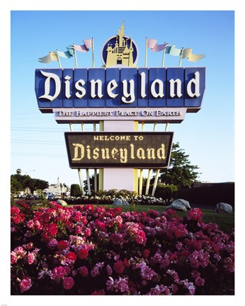Framed Disneyland in Orange County, California, 1955 Print