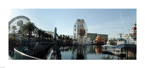 Framed Paradise Pier Panorama Print