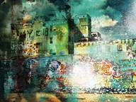City Scrim A  Fine Art Print