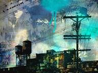City Scrim B  Fine Art Print