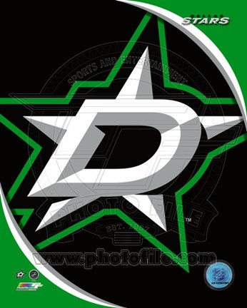 Framed Dallas Stars 2013 Team Logo Print