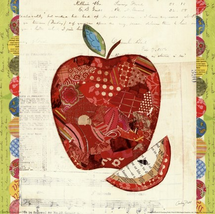 Framed Fruit Collage I - Apple Print