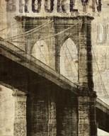 Vintage NY Brooklyn Bridge Art