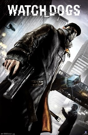 Framed Watch Dogs - Aiden Print