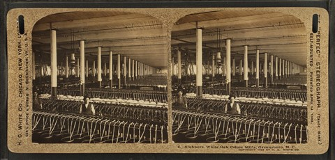 Framed Slubbers, White Oak Cotton Mills. Greensboro, N.C Print