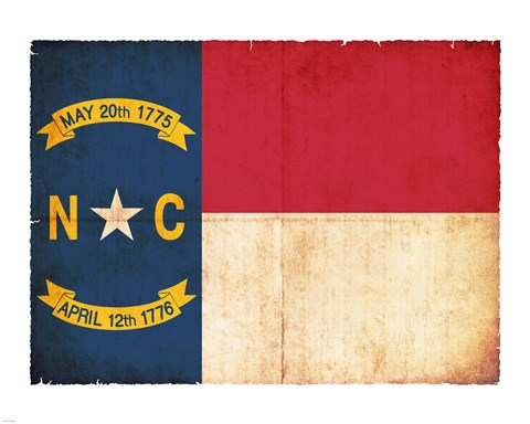 Framed North Carolina Flag Print