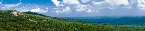 Framed Panorama of the Blue Ridge Parkway Asheville, NC Print