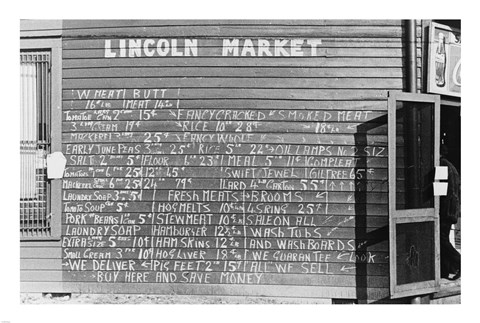 Framed Lincoln Market Winston Salem, North Carolina Print