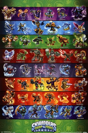 Framed Skylanders Swap Force - Grid Print