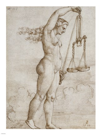 Framed Allegory of Justice Print