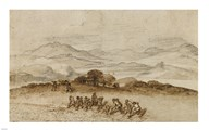 Landscape in Latium with Farm Laborers Art