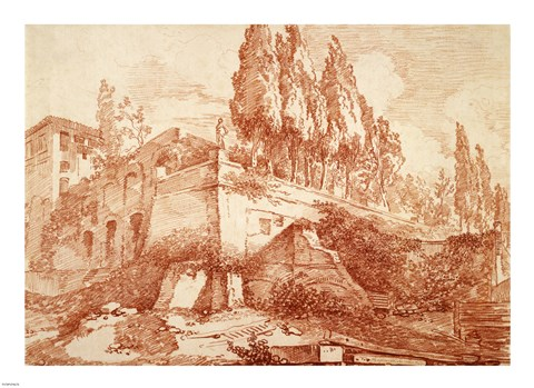 Framed Ruins of an Imperial Palace, Rome Print