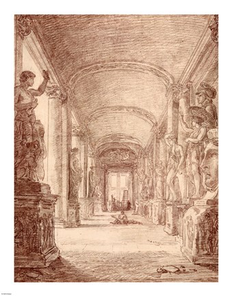 Framed Draftsman in the Capitoline Gallery Print