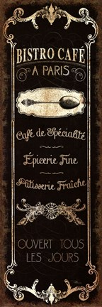 Framed Parisian Signs Panel - II Print
