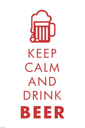 Framed Keep Calm and Drink Beer Print