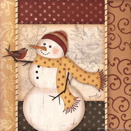 Framed Country Snowman IV Print