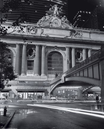Framed Grand Central Night Print