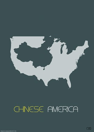 Framed Chinese America Poster Print