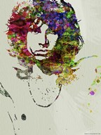Jim Morrison Watercolor  Fine Art Print