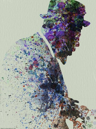 Framed Thelionious Monk Watercolor I Print