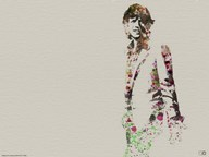 Mick Jagger Watercolor  Fine Art Print