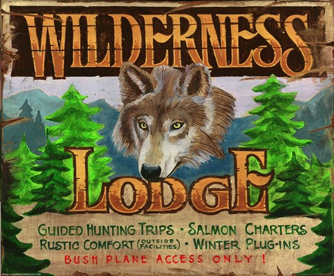Framed Wilderness Lodge Print