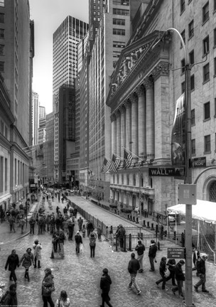Framed Wall Street HDR 1 Print
