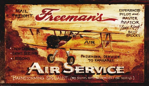 Framed Freemans Aviation Print