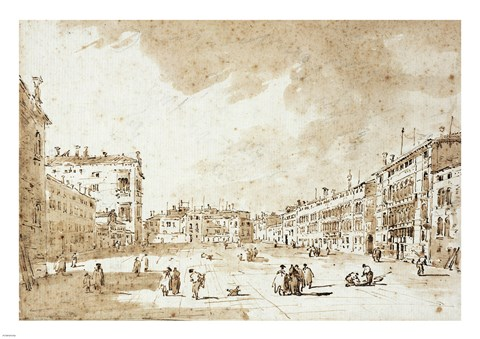 Framed View of Campo San Polo Print
